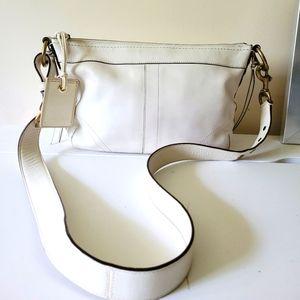 Coach #10559 Duffle Soft Ivory Pebble Leather Bag